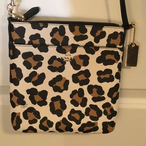Authentic COACH Leopard Crossbody Bag